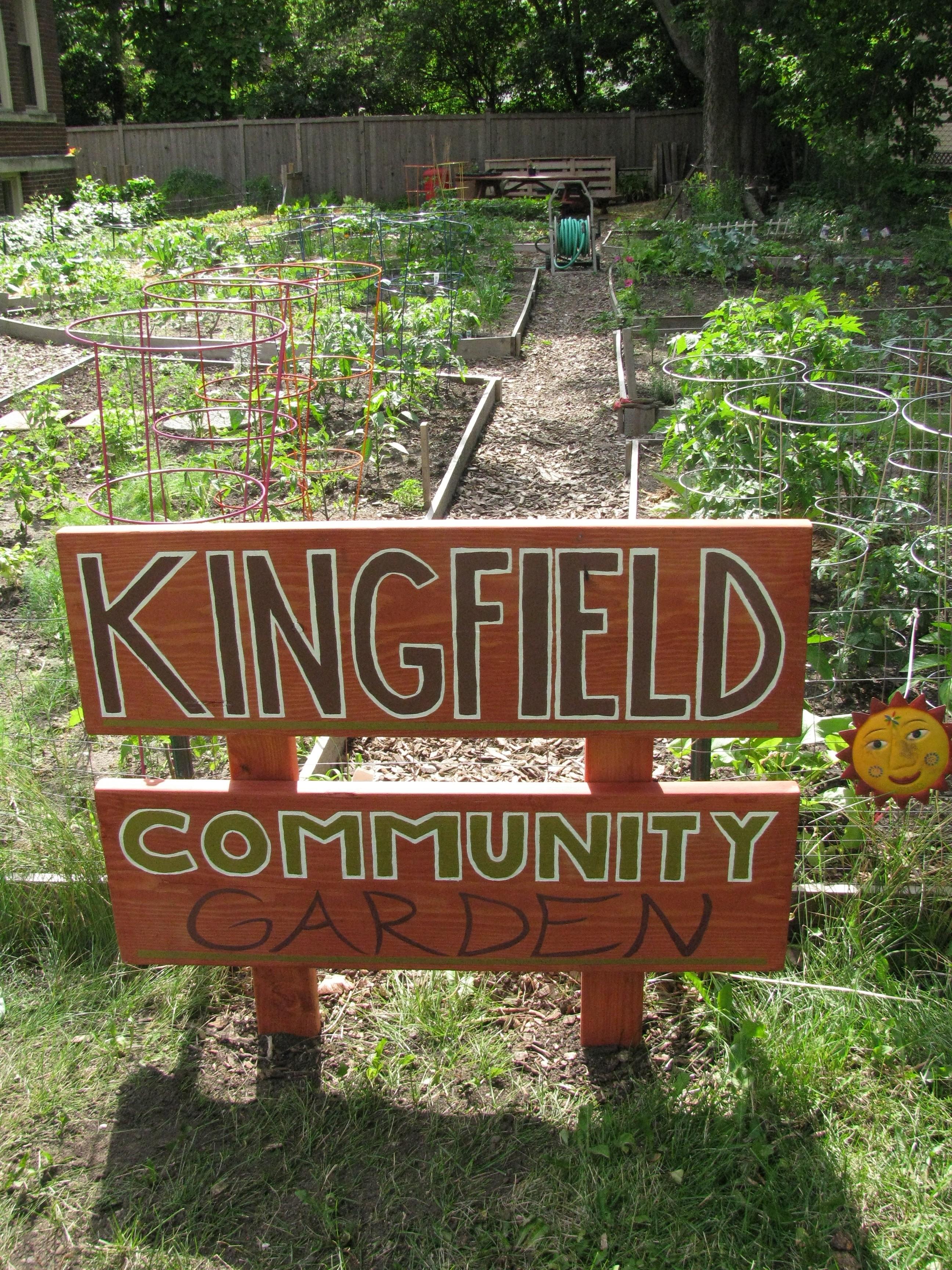 Kingfield's Pleasant Community Garden