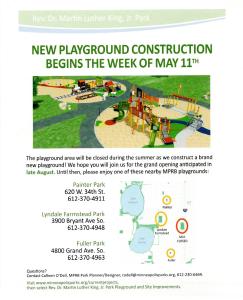 MLK Park Playground Construction