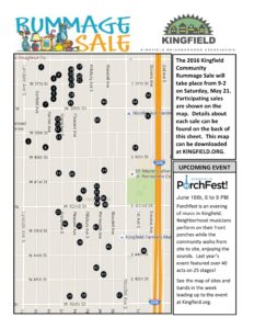 2016 Rummage Sale Map Front